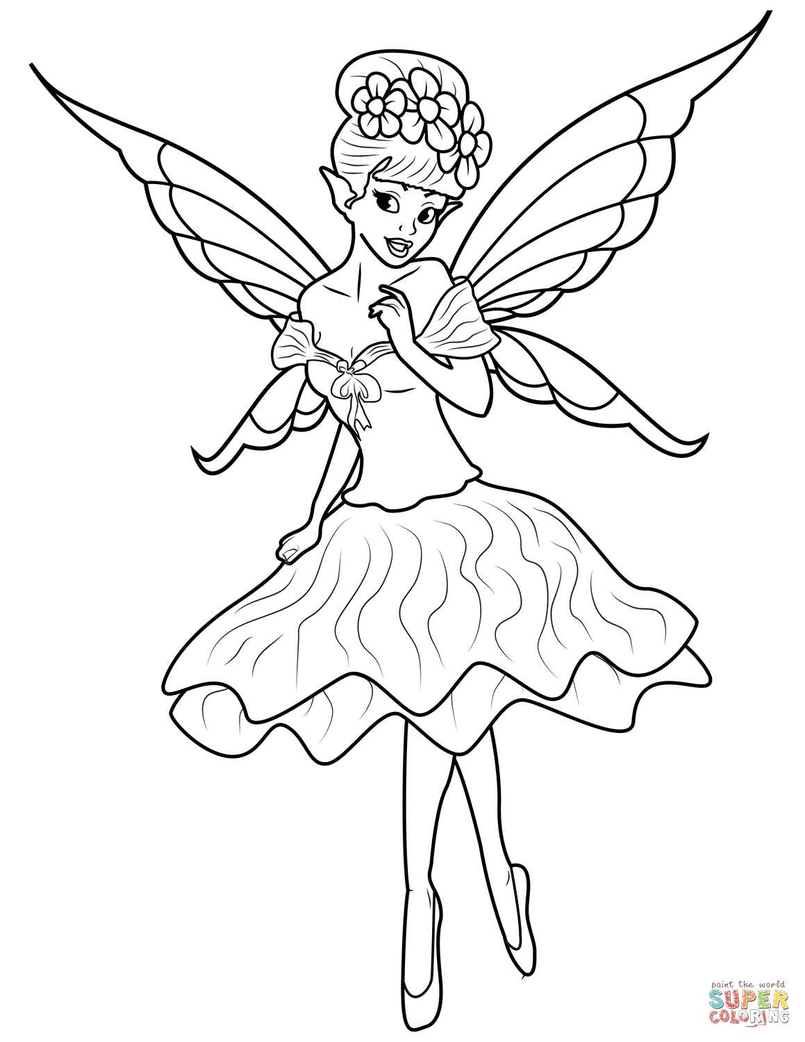 Fairy Coloring Pages | Free Coloring Pages - Free Printable Coloring Pages For Adults Dark Fairies