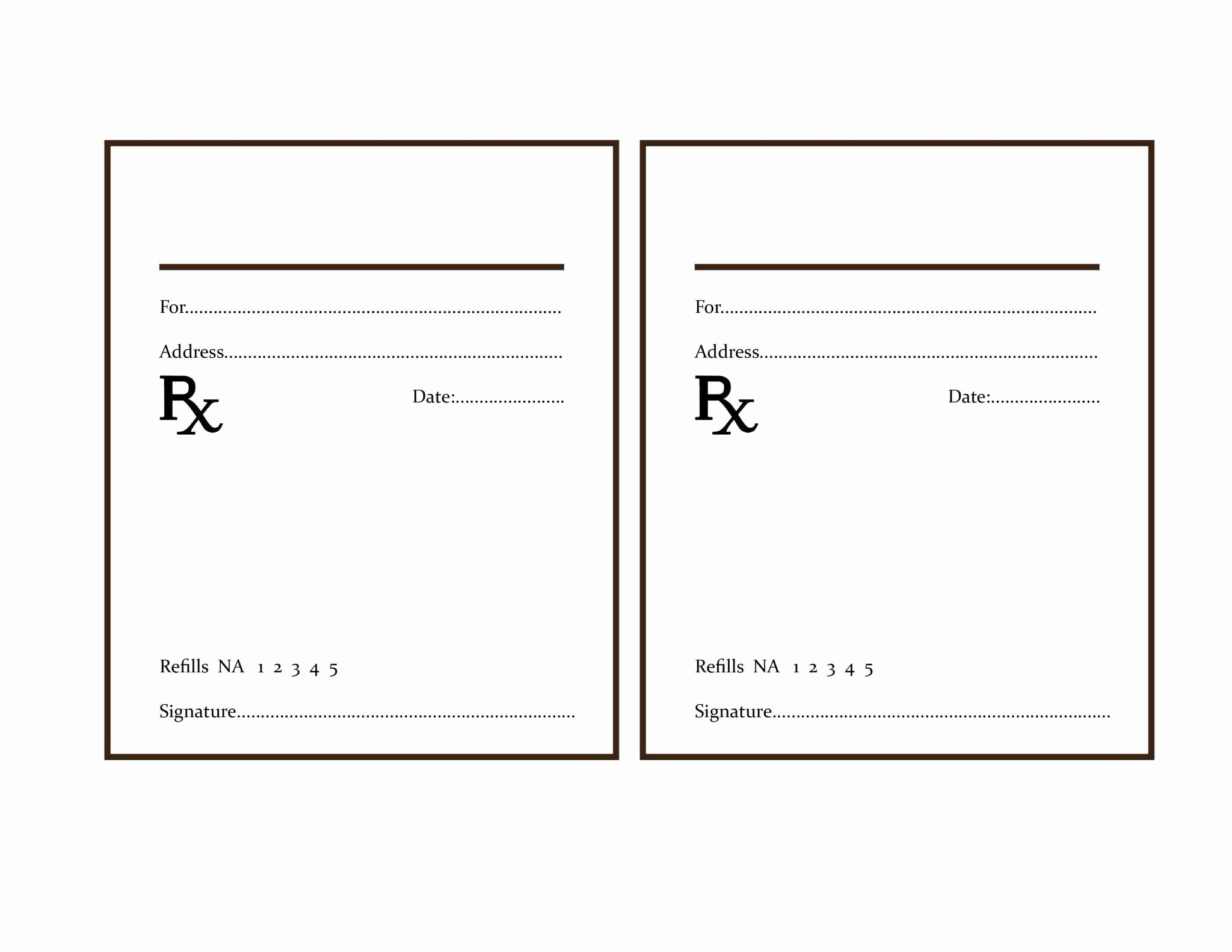 Fake Prescription Label Template | Locksmithcovington Template - Free Printable Prescription Pad