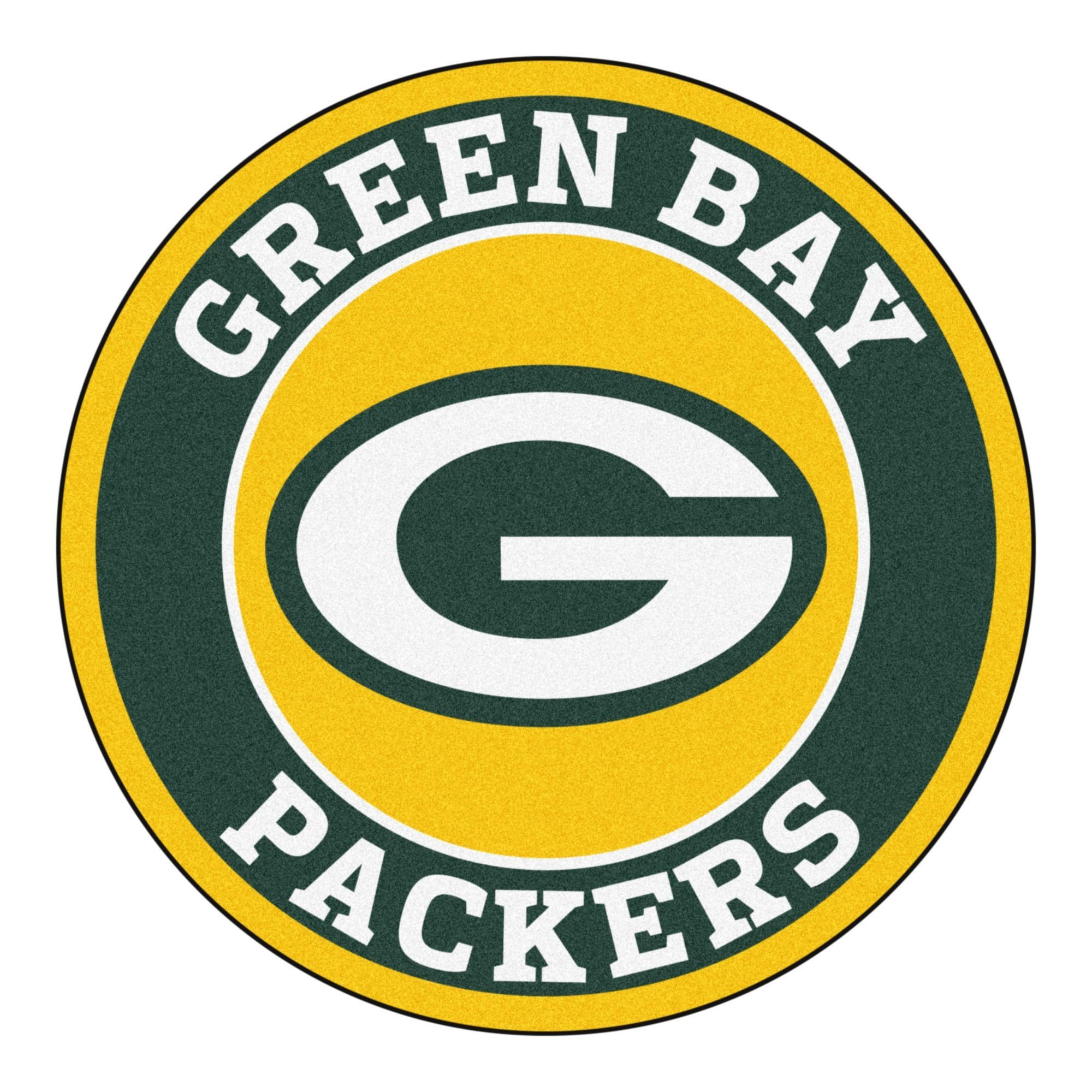 Fanmats Nfl - Green Bay Packers Roundel Mat 27 Diameter (27 Inches X - Free Printable Green Bay Packers Logo