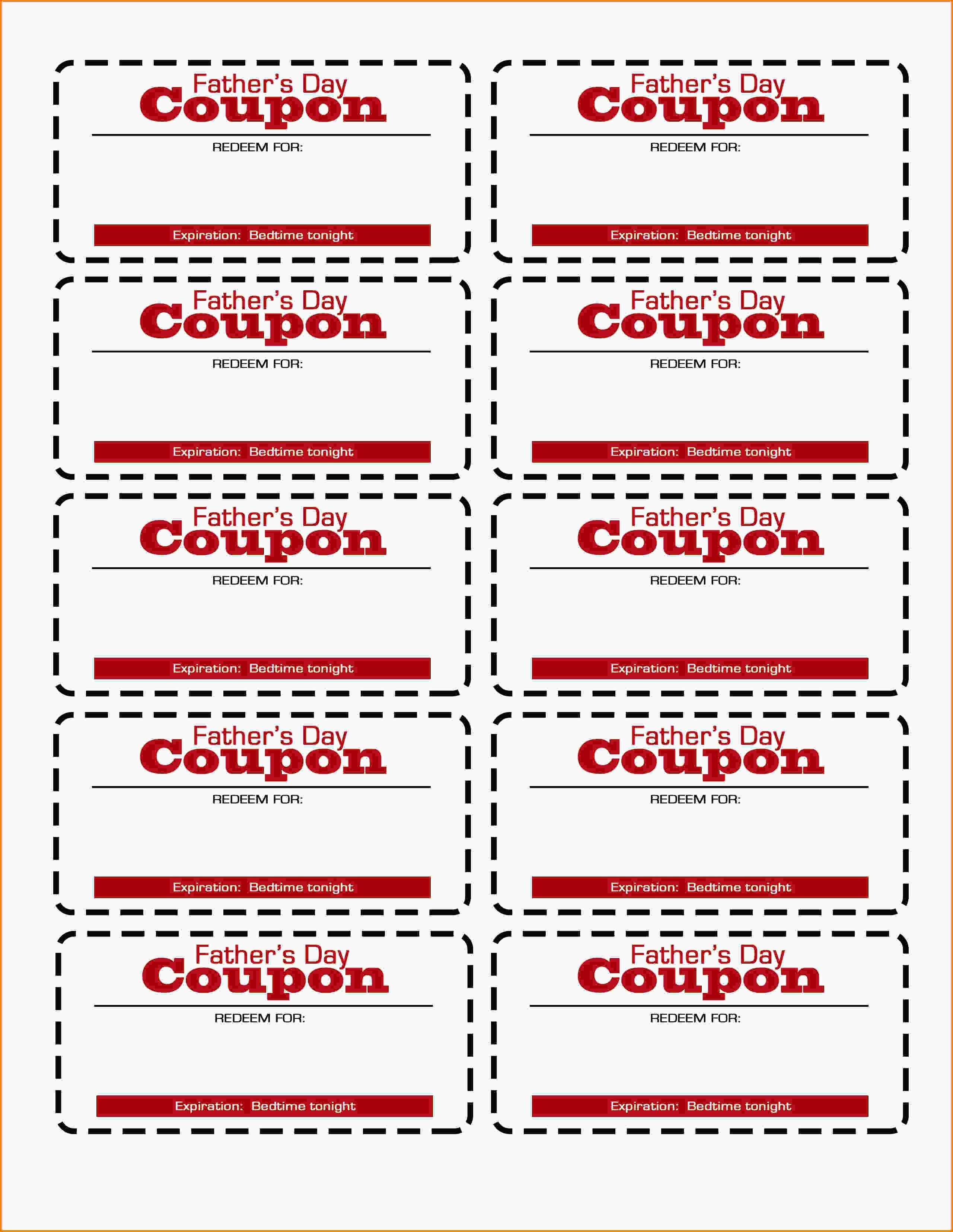 Father's Day Coupon Printable! | Flourish | Free Resources For Pro - Free Printable Coupon Templates