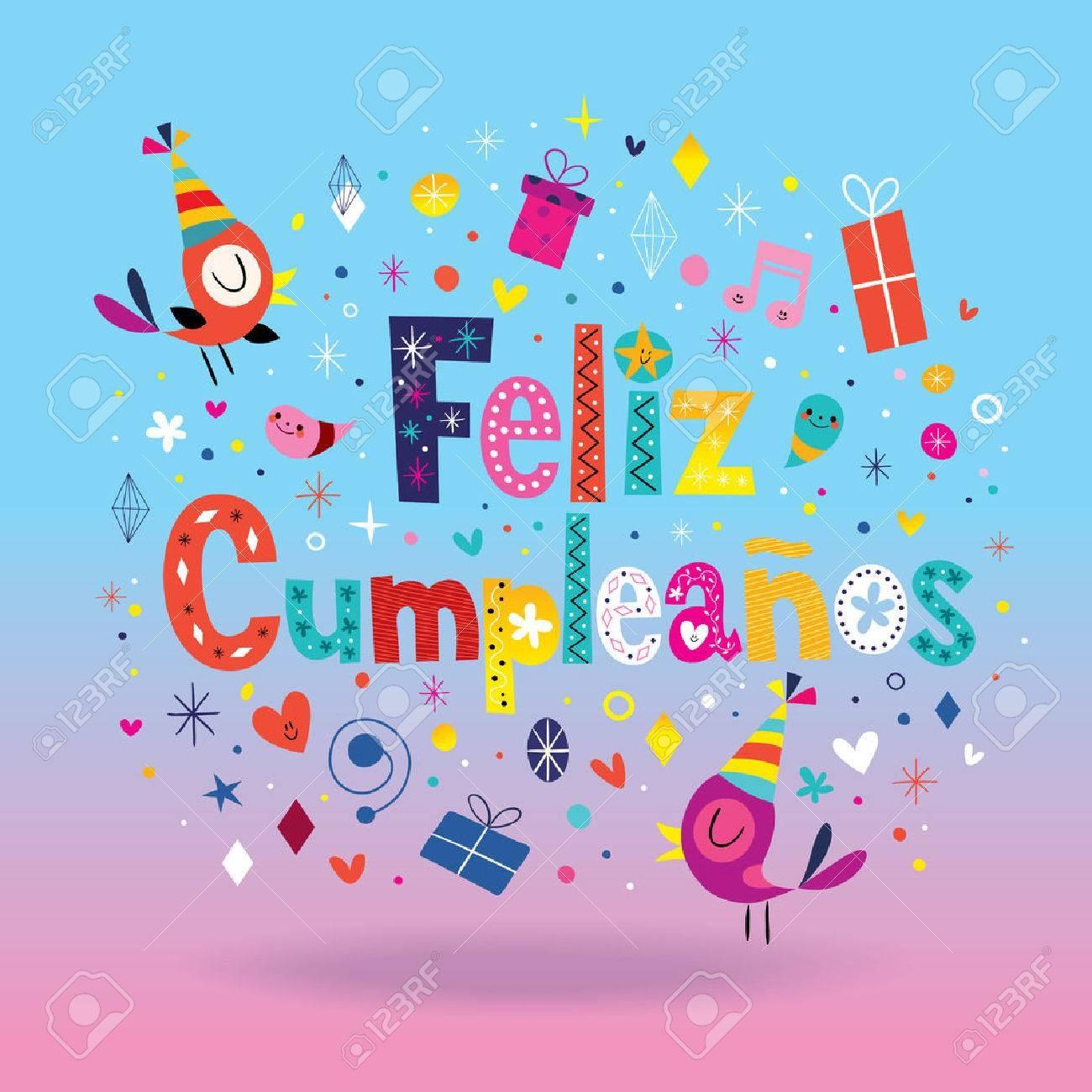 Feliz Cumpleanos - Happy Birthday In Spanish Card Royalty Free - Free Printable Happy Birthday Cards In Spanish