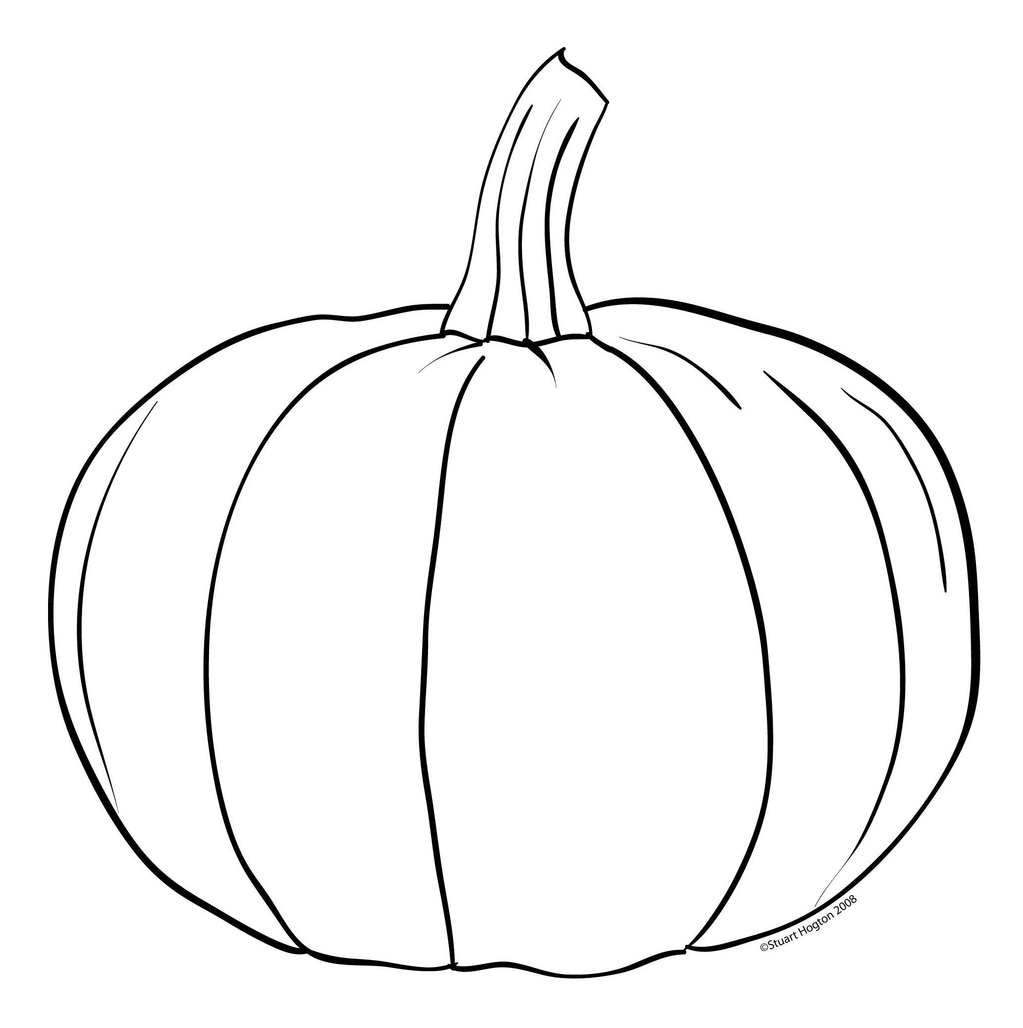 Pumpkin Shape Template Printable Free | Free Printable