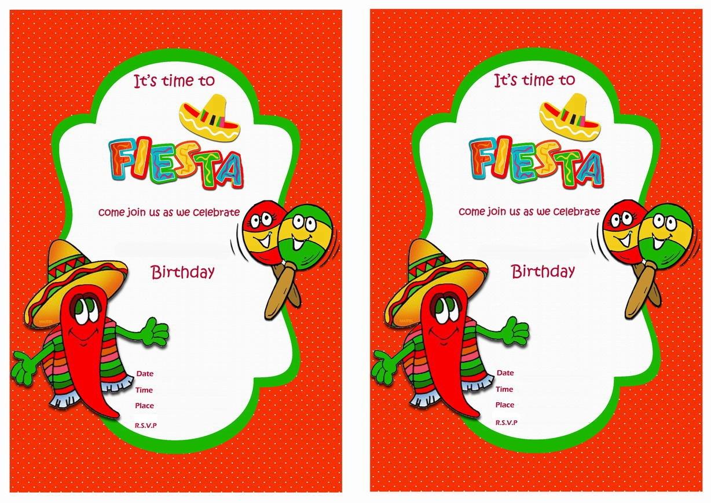 Fiesta Mexican Birthday Invitations   Birthday Printable - Free Printable Fiesta Invitations