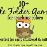 File Folder Games For Teaching Colors   Free Printable Preschool Folder Games