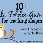 File Folder Games For Teaching Shapes   Free Printable Preschool Folder Games