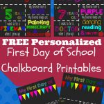 First Day Of School Printable Chalkboard Sign | The Shady Lane 1   Free Printable Back To School
