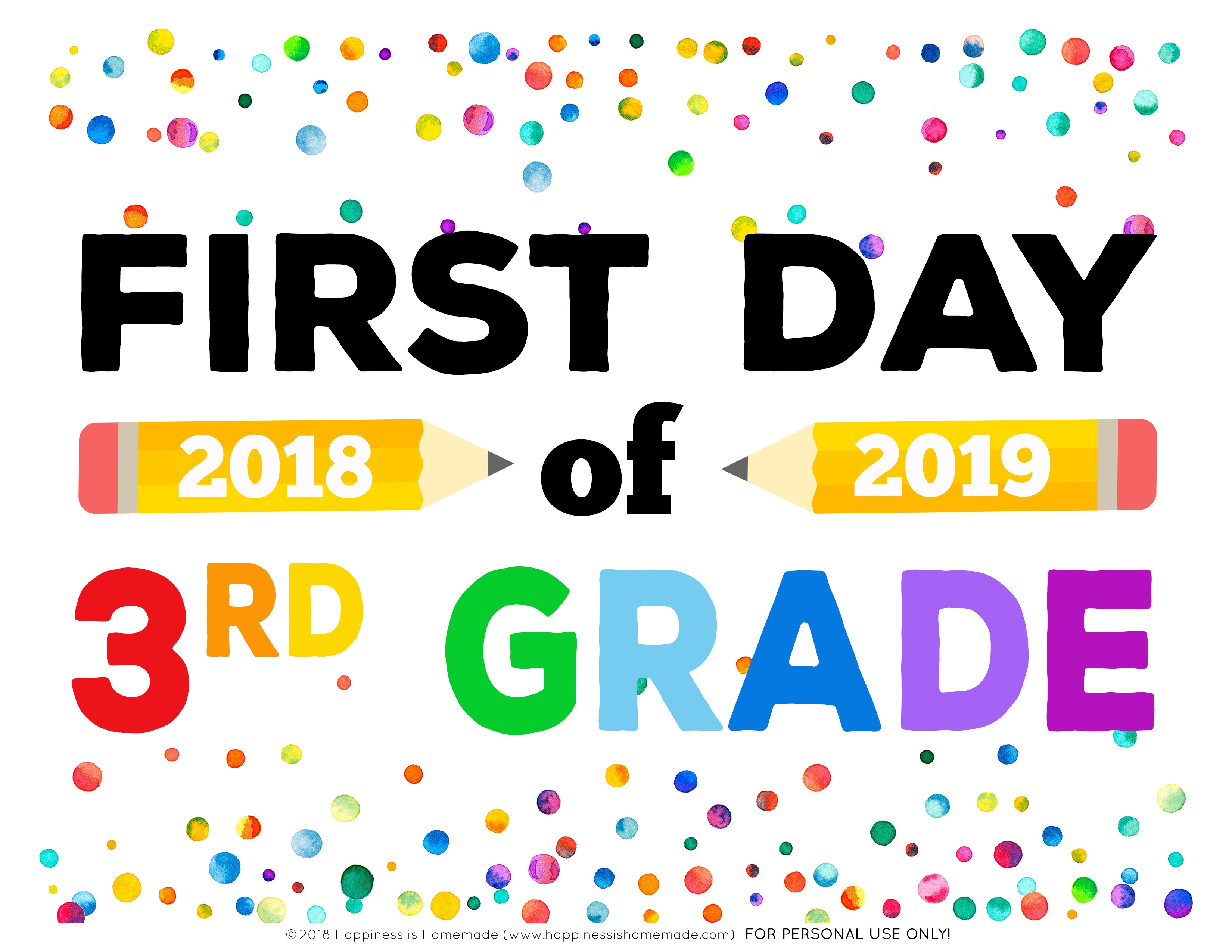 First Day Of School Signs – Free Printables – Handmade Crafts,amazon - My First Day Of Kindergarten Free Printable