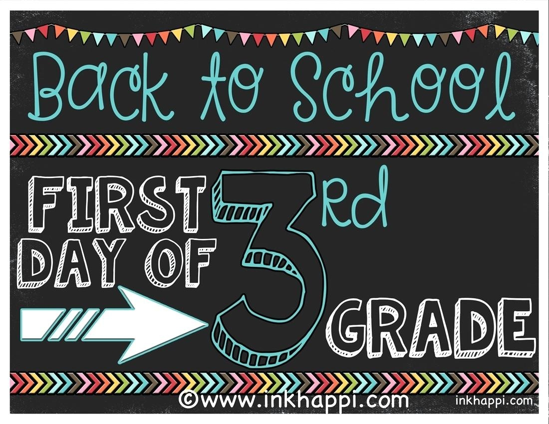 First Day Of Second Grade Printable Sign – Androidstarter.club - First Day Of Second Grade Free Printable Sign