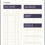 Fix Your Finances Asap With My (Free) Simple Monthly Budget Template   Free Printable Budget Worksheets