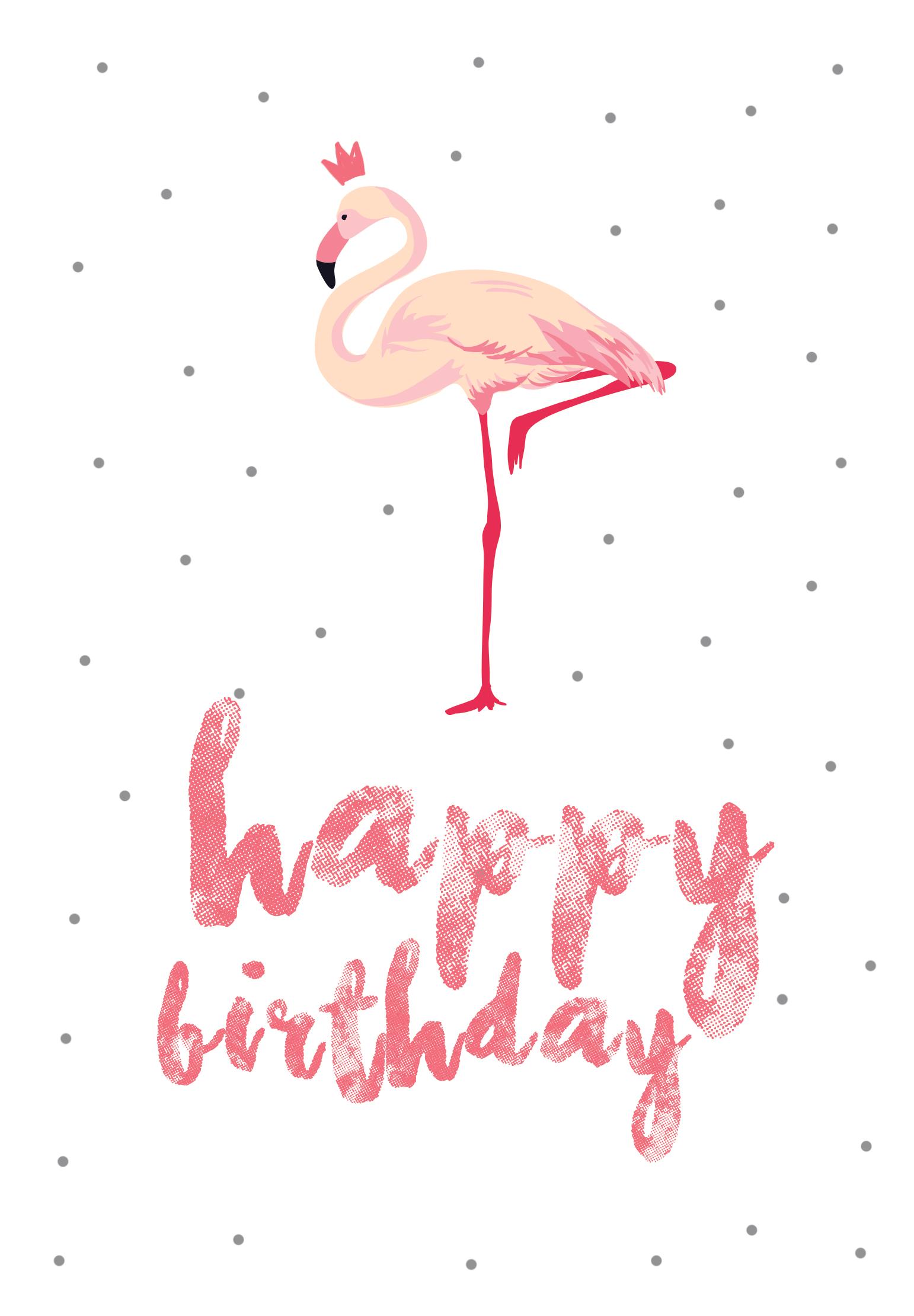 Flamingo | Flamingos | Free Printable Birthday Cards, Flamingo - Happy Birthday Free Cards Printable