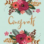 Floral Congrats   Free Printable Wedding Congratulations Card   Free Printable Wedding Congratulations Greeting Cards