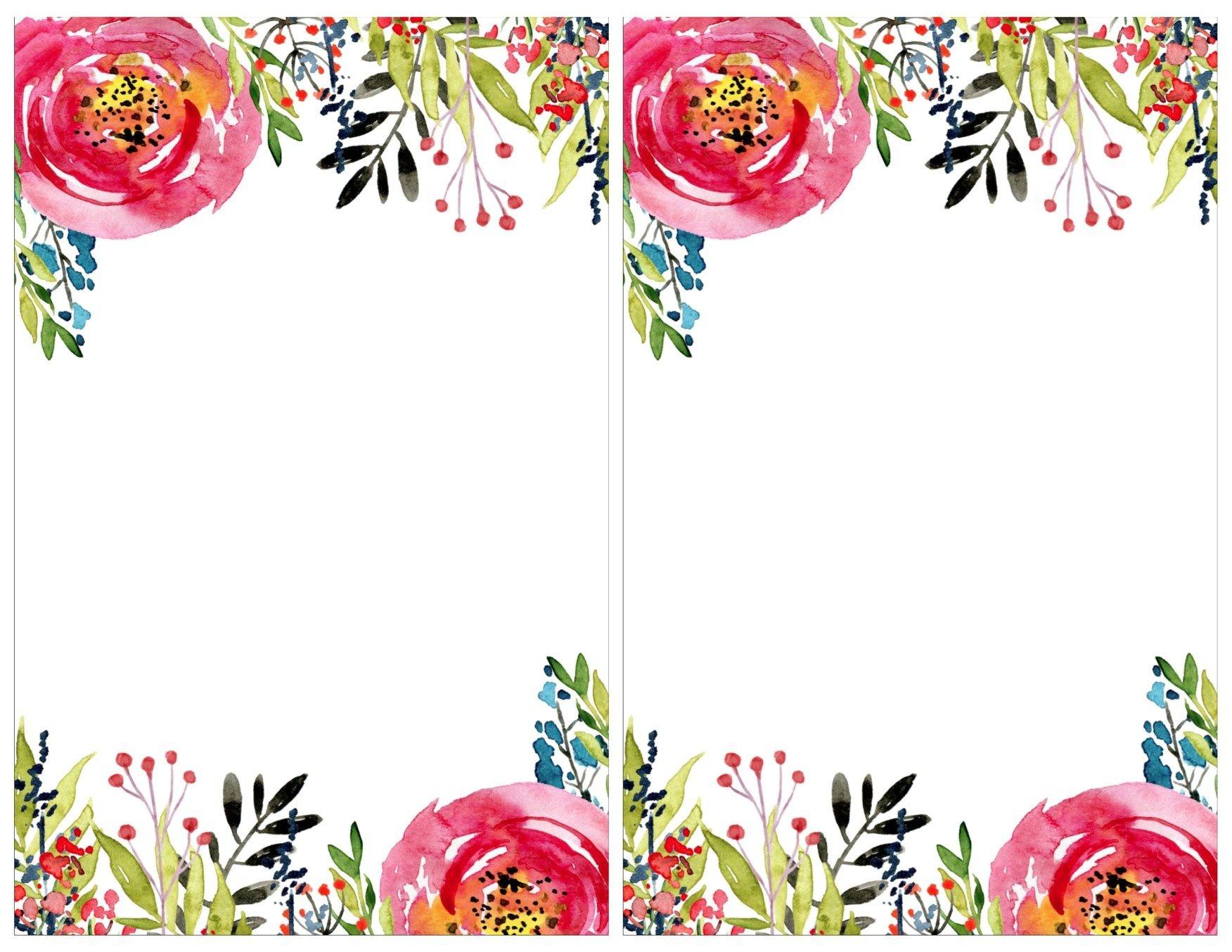 Floral Invitation Template {Free Printable} | #eakertobeamoses - Free Printable Flowers