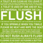 Flush The Toilet Quotes And Sayings Free Printable | Bathroom   Free Printable Do Not Flush Signs