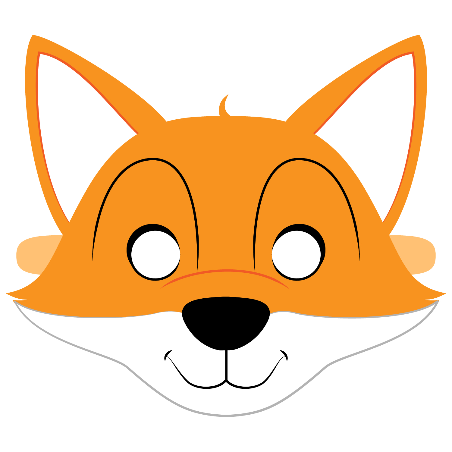 Fox Mask Template | Free Printable Papercraft Templates - Free Printable Fox Mask Template