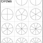 Fraction Circles Template – Printable Fraction Circles – 1 Worksheet   Free Printable Blank Fraction Circles