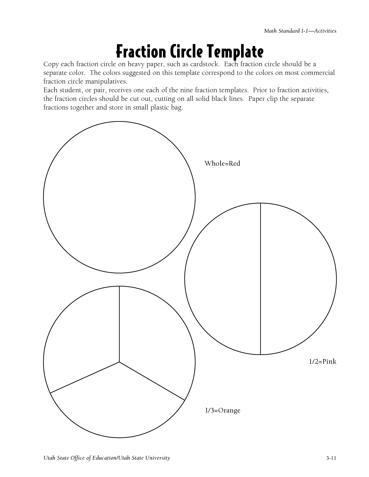 Fraction Papers | Circle Fraction Template - Pdf | Education - Free Printable Blank Fraction Circles