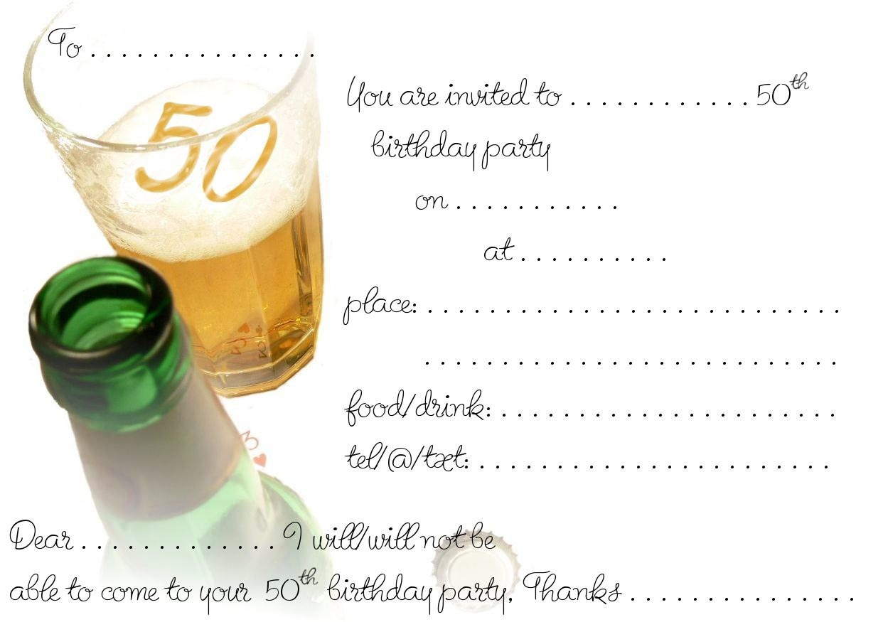 Free 50Th Birthday Invitation Templates — Birthday Invitation Examples - Free Printable Surprise 40Th Birthday Party Invitations