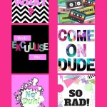 Free 80's Style Printables For All The 80's Lovers Out There   Printable 90S Props Free