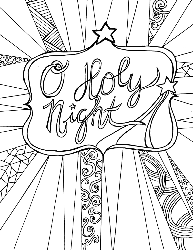 Free Adult Coloring Page Printable - Christmas — Clumsy Crafter - Free Printable Bible Christmas Coloring Pages