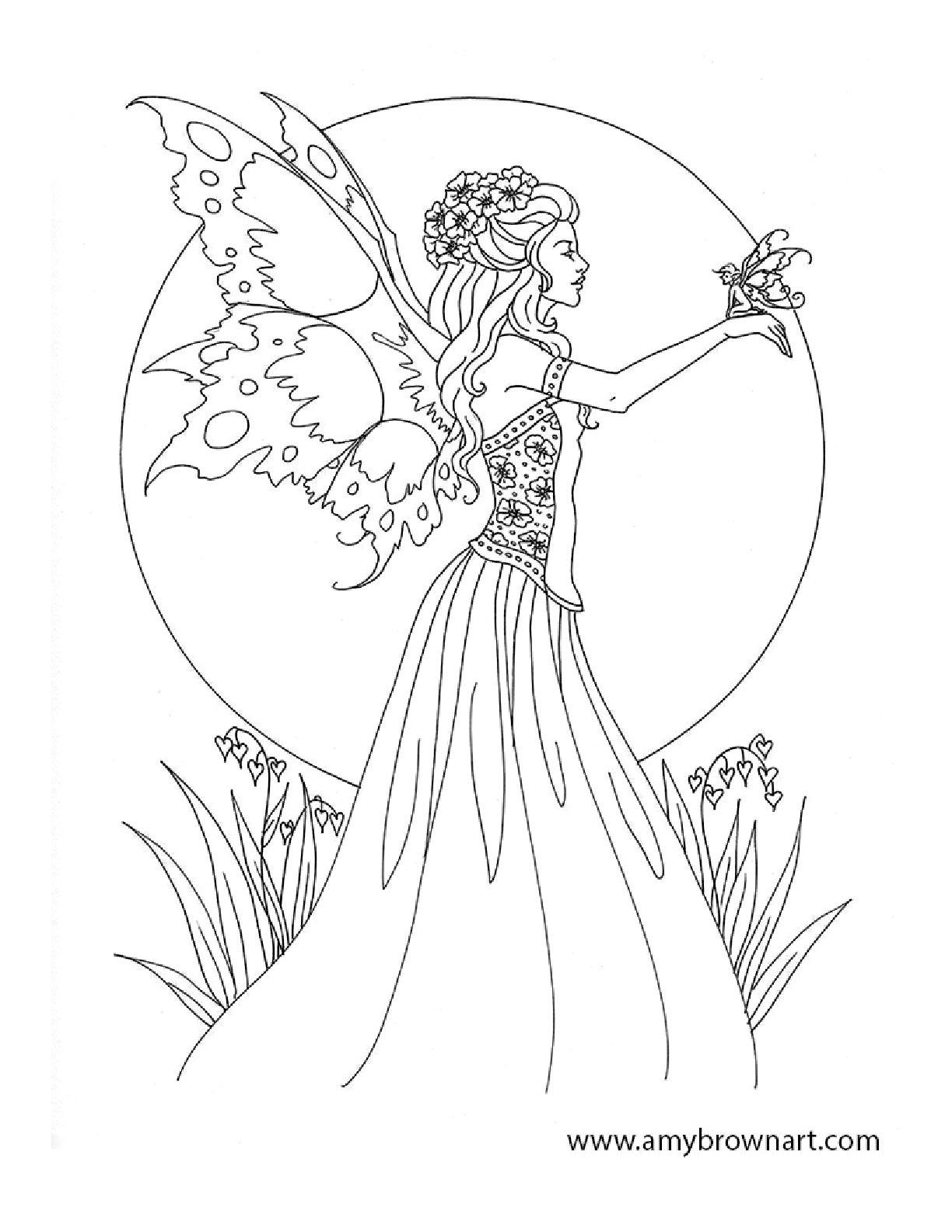 Free Amy Brown Fairy Coloring Pages | Fairie And Elf Coloring Pages - Free Printable Coloring Pages For Adults Dark Fairies