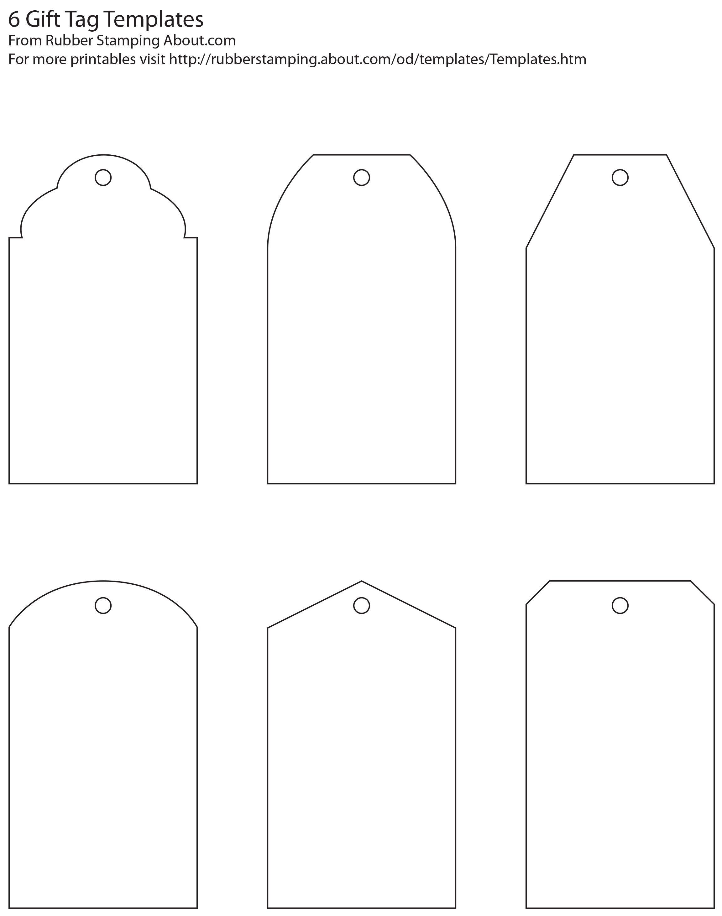 Free And Whimsical Printable Gift Tag Templates | Great Idea - Free Printable Gift Tag Templates For Word