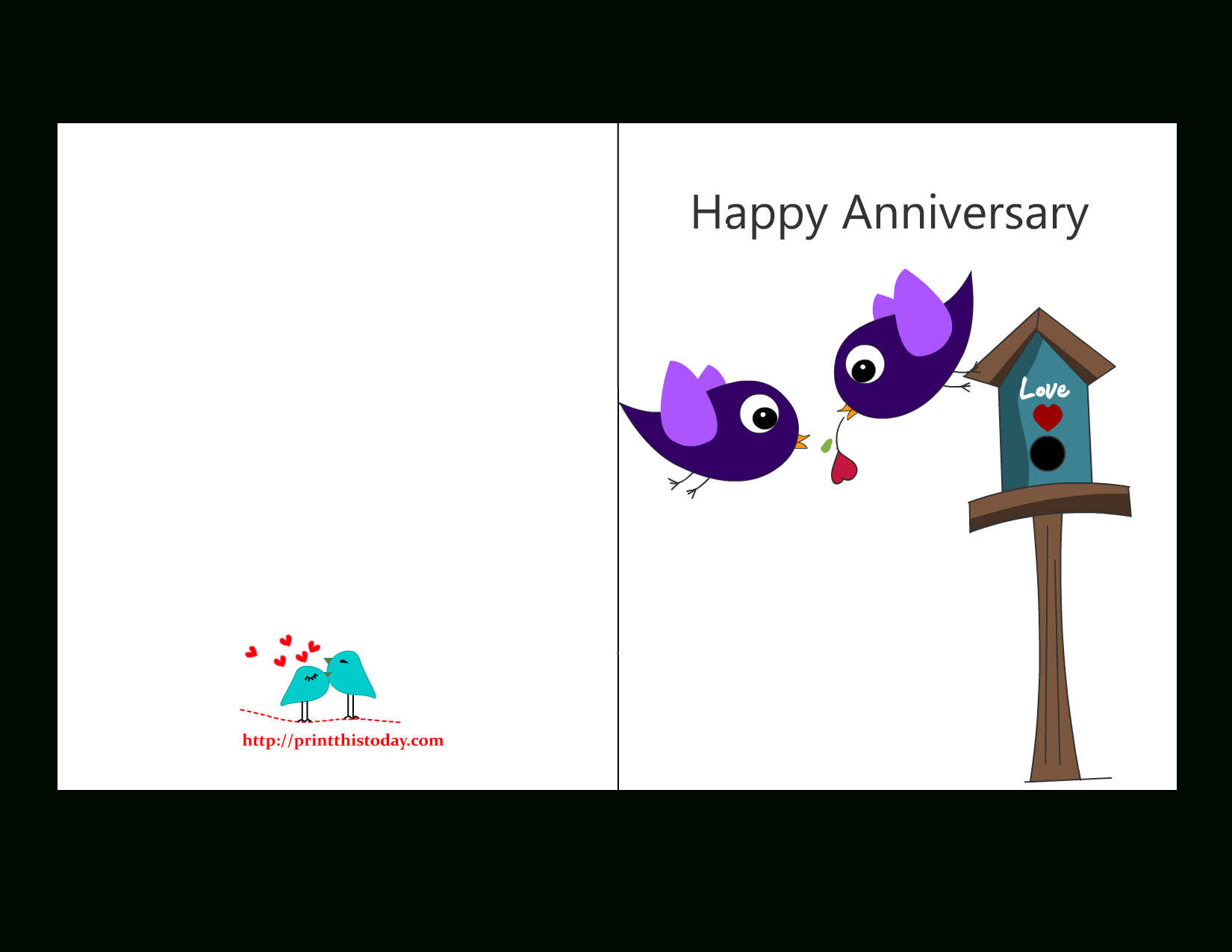 Free Anniversary Cards To Print | Free Printable Anniversary Cards - Free Printable Picture Cards