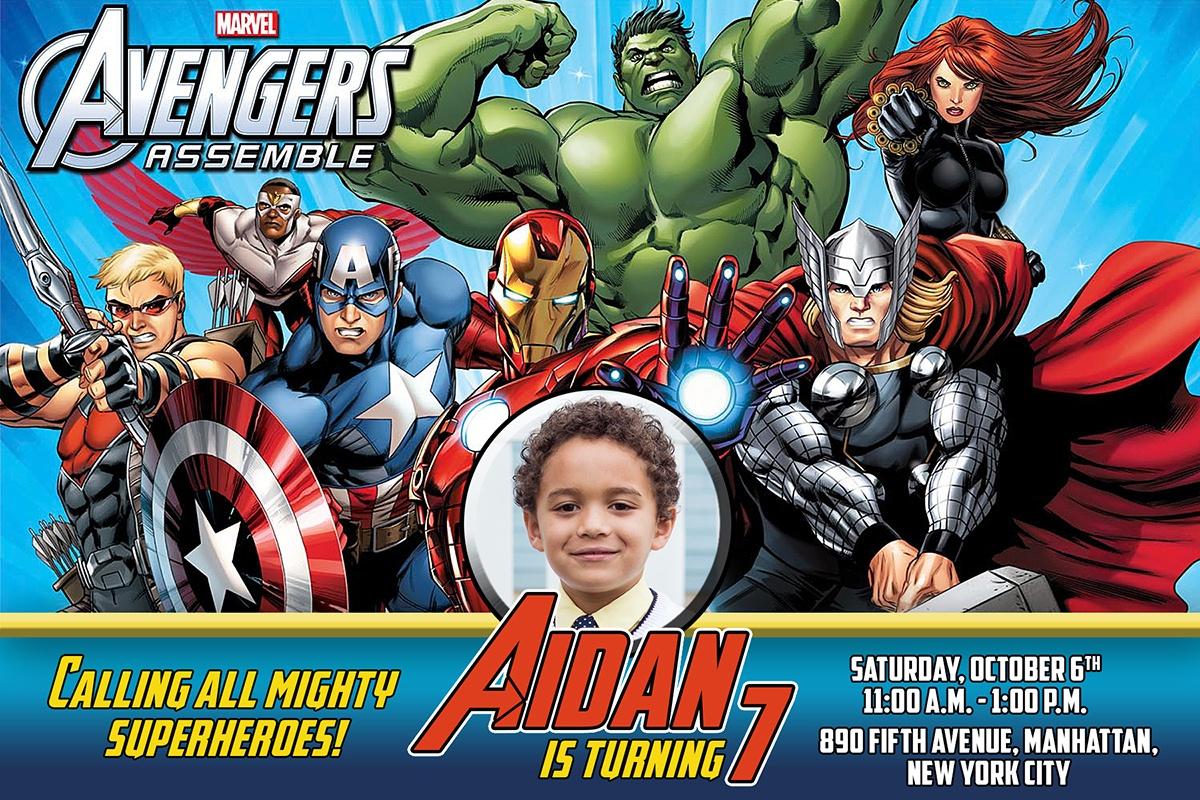 Free Avengers Birthday Invitation   Dioskouri Designs - Avengers Printable Invitations Free