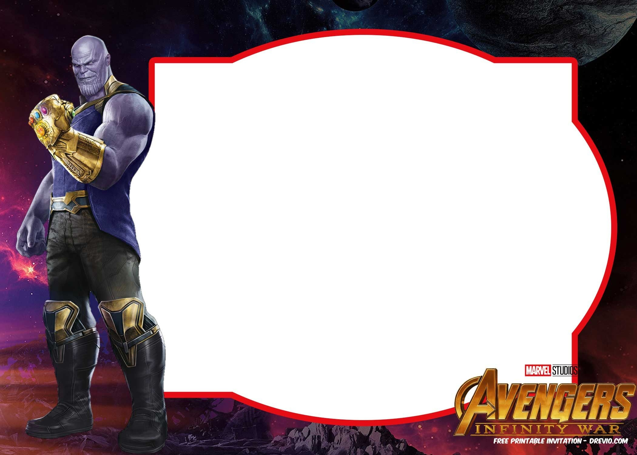 Free Avengers Infinity Wars Birthday Invitation Templates - All - Avengers Printable Invitations Free