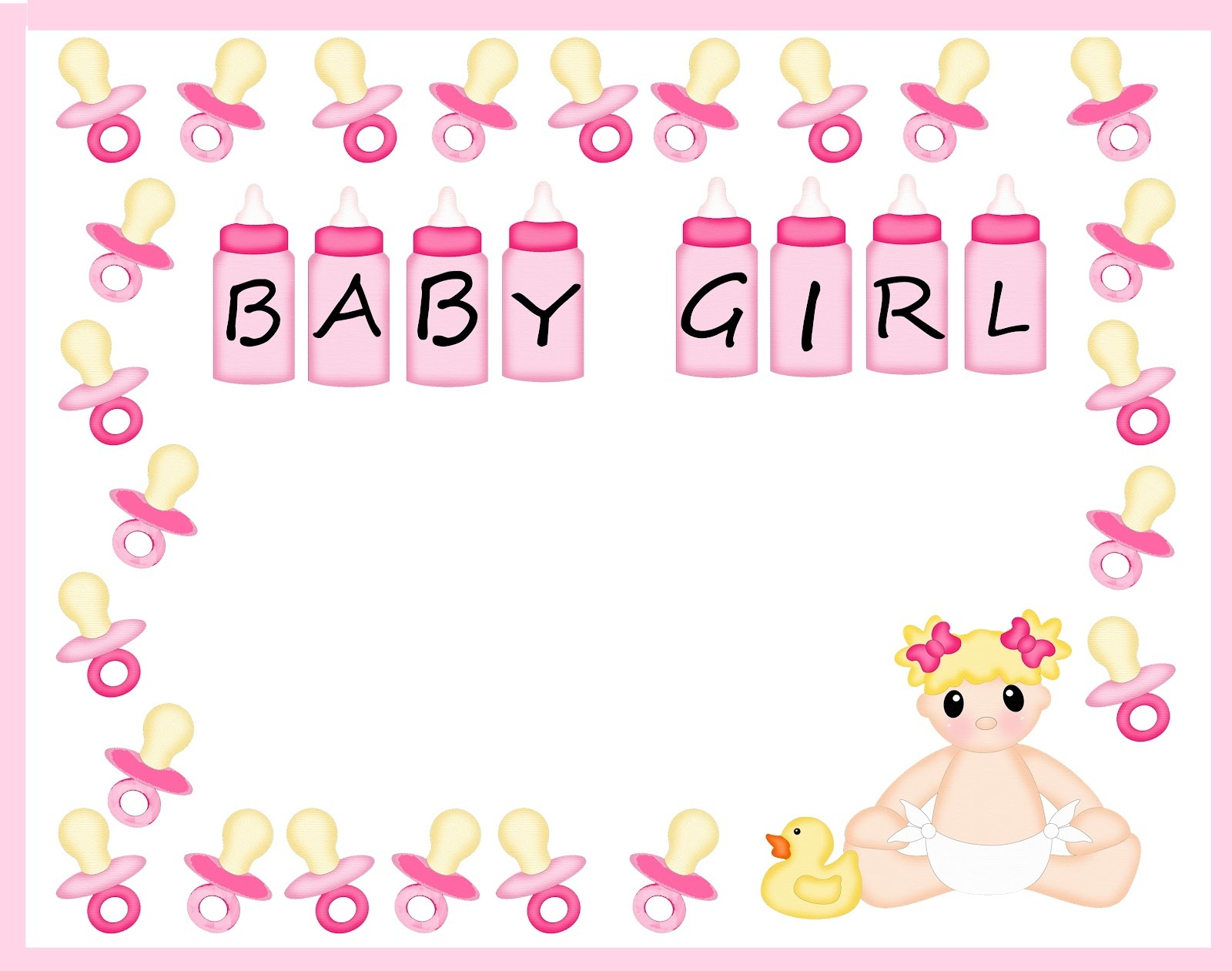 Free Baby Shower Border Paper, Download Free Clip Art, Free Clip Art - Free Printable Baby Borders For Paper