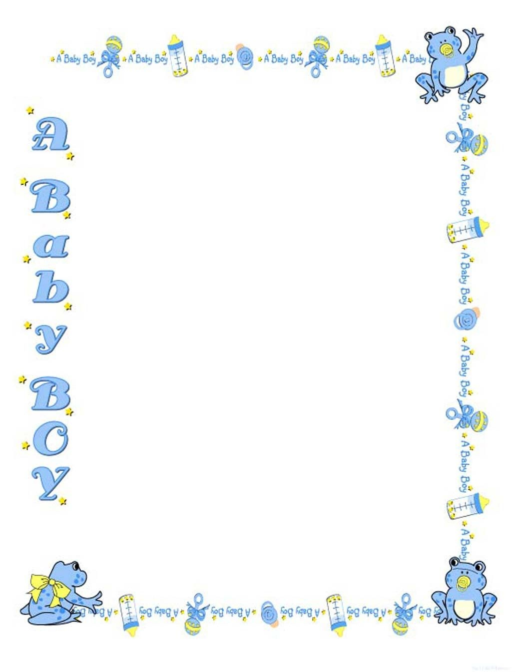 Free Baby Shower Border Templates - Cliparts.co | Baby Shower | Baby - Free Printable Baby Borders For Paper