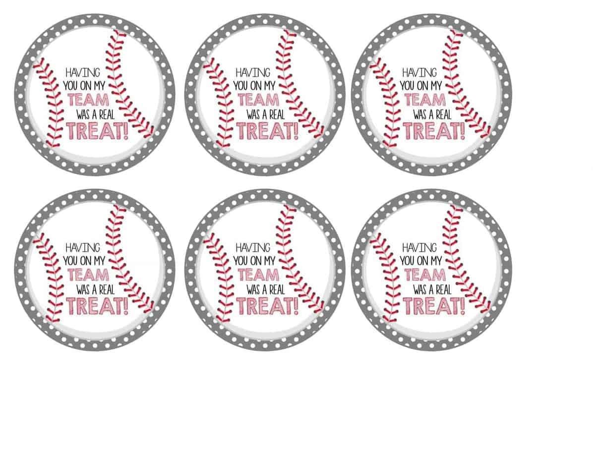 Free Baseball Tags + Rice Krispies Treats® | Mimi's Dollhouse - Free Printable Baseball Favor Tags