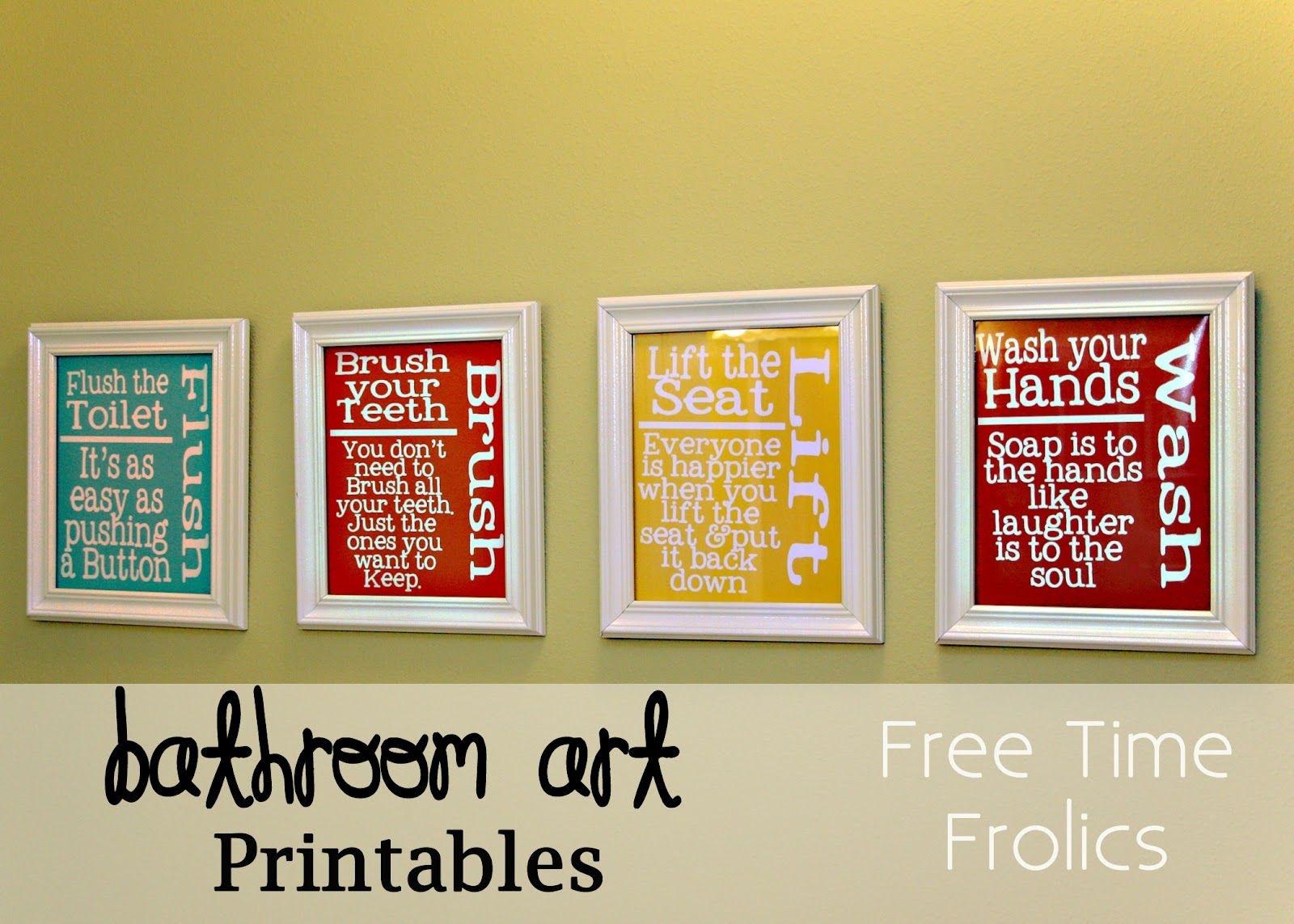 Free Bathroom {Art} Printable | Diy | Bathroom Kids, Bathroom Art - Free Printable Wall Art For Bathroom