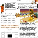 Free Bible Worksheet   The Tabernacle | Moses | Sabbath School   Free Printable Pictures Of The Tabernacle