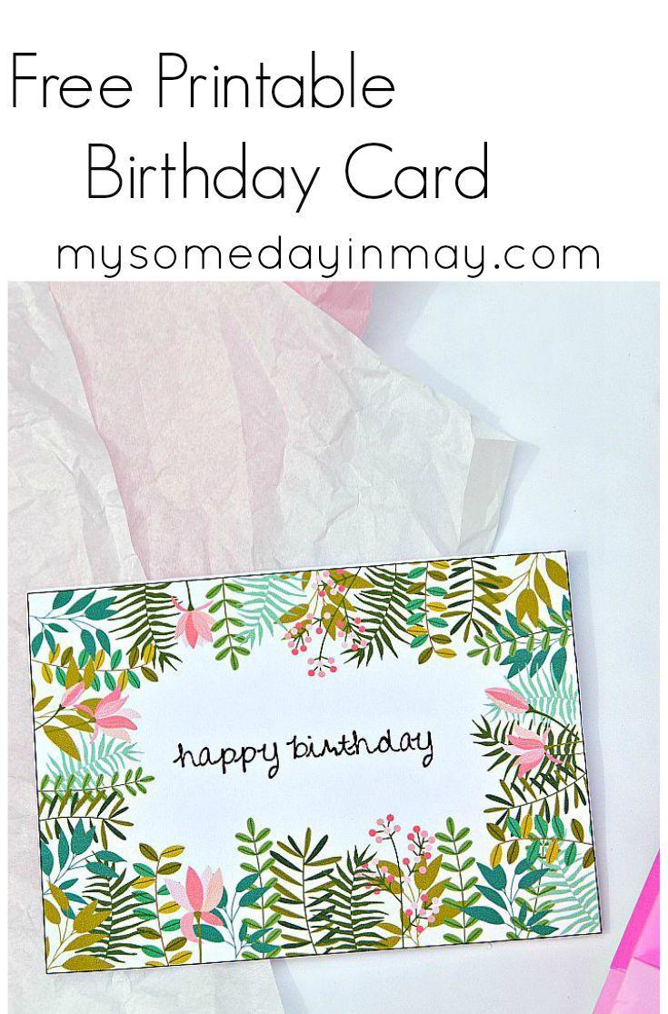Free Birthday Card   Birthday Ideas   Free Printable Birthday Cards - Free Printable Birthday Cards For Mom