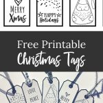Free Black & White Christmas Gift Tags – A Download For You   Christmas Gift Tags Free Printable Black And White