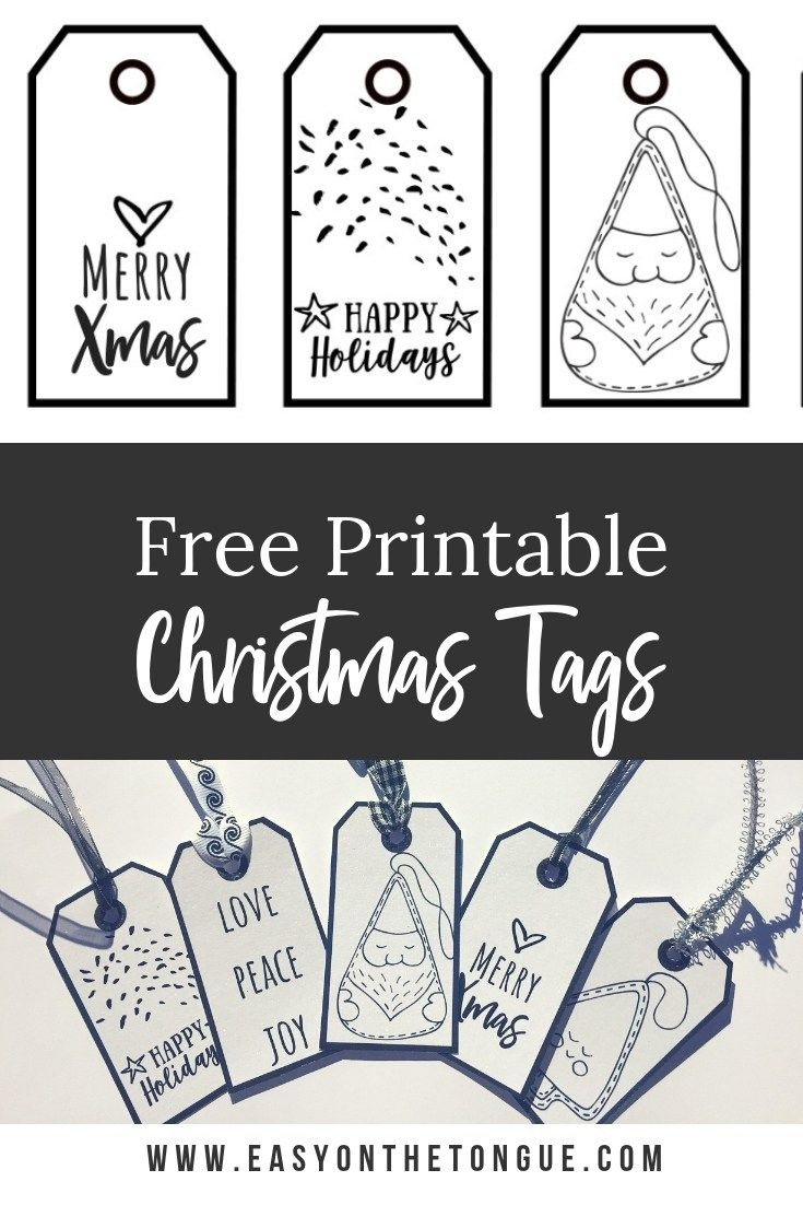 Free Black & White Christmas Gift Tags – A Download For You - Christmas Gift Tags Free Printable Black And White