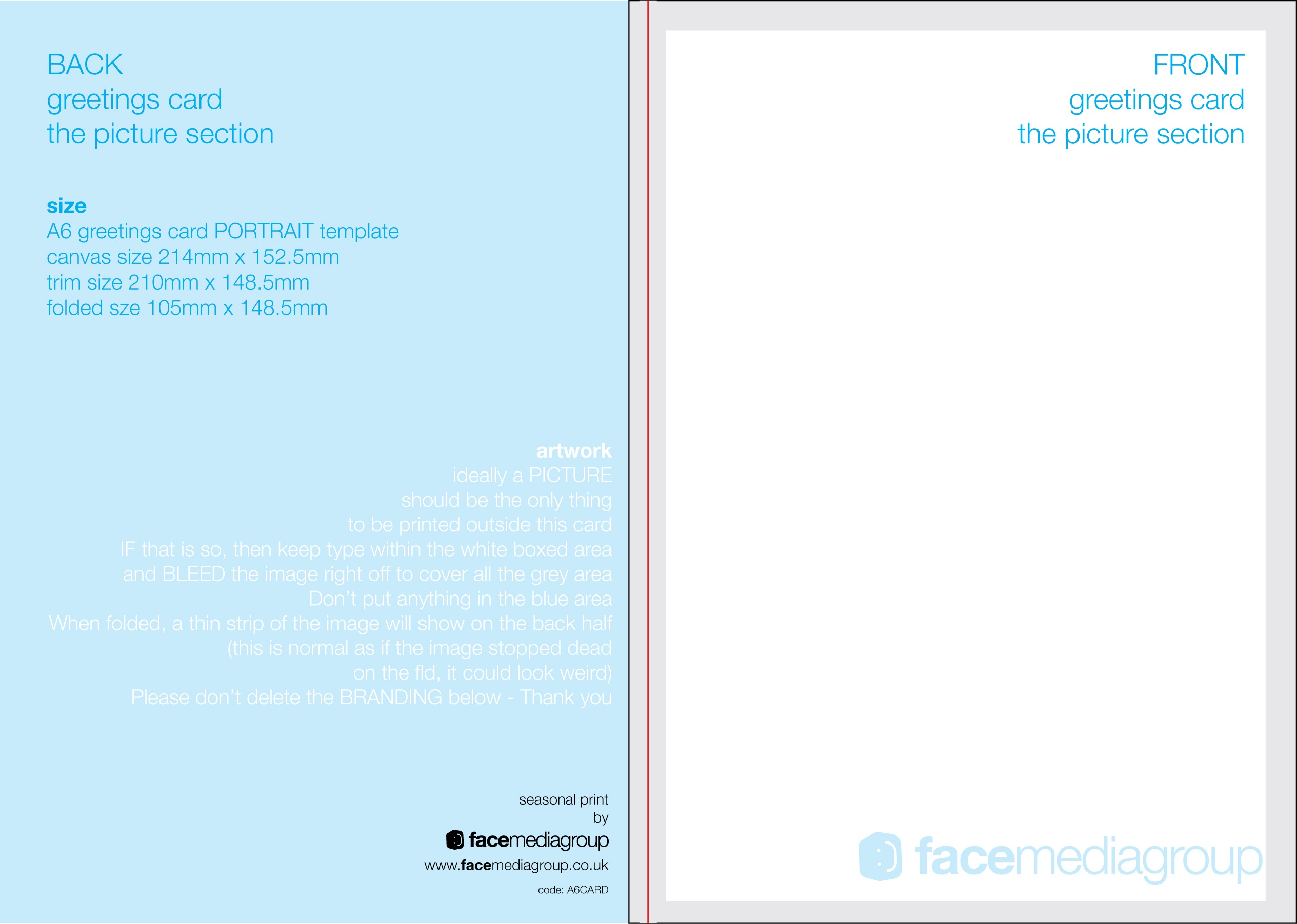 Free Blank Greetings Card Artwork Templates For Download   Face - Free Printable Blank Greeting Card Templates