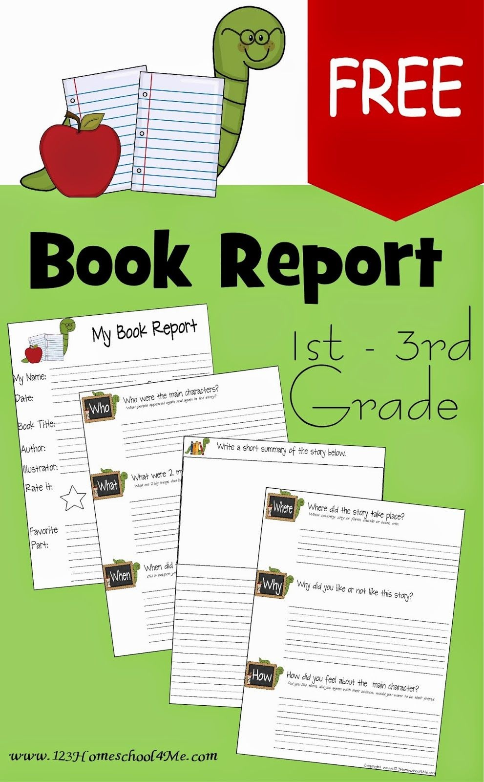 Free Book Report Template | Play Activities For Kids | 1St Grade - Free Printable Book Report Forms