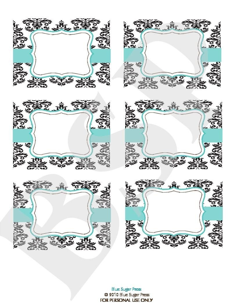 Free Candy Buffet Printables | Candy Buffet Labels Printable. Blue - Free Printable Candy Buffet Labels Templates