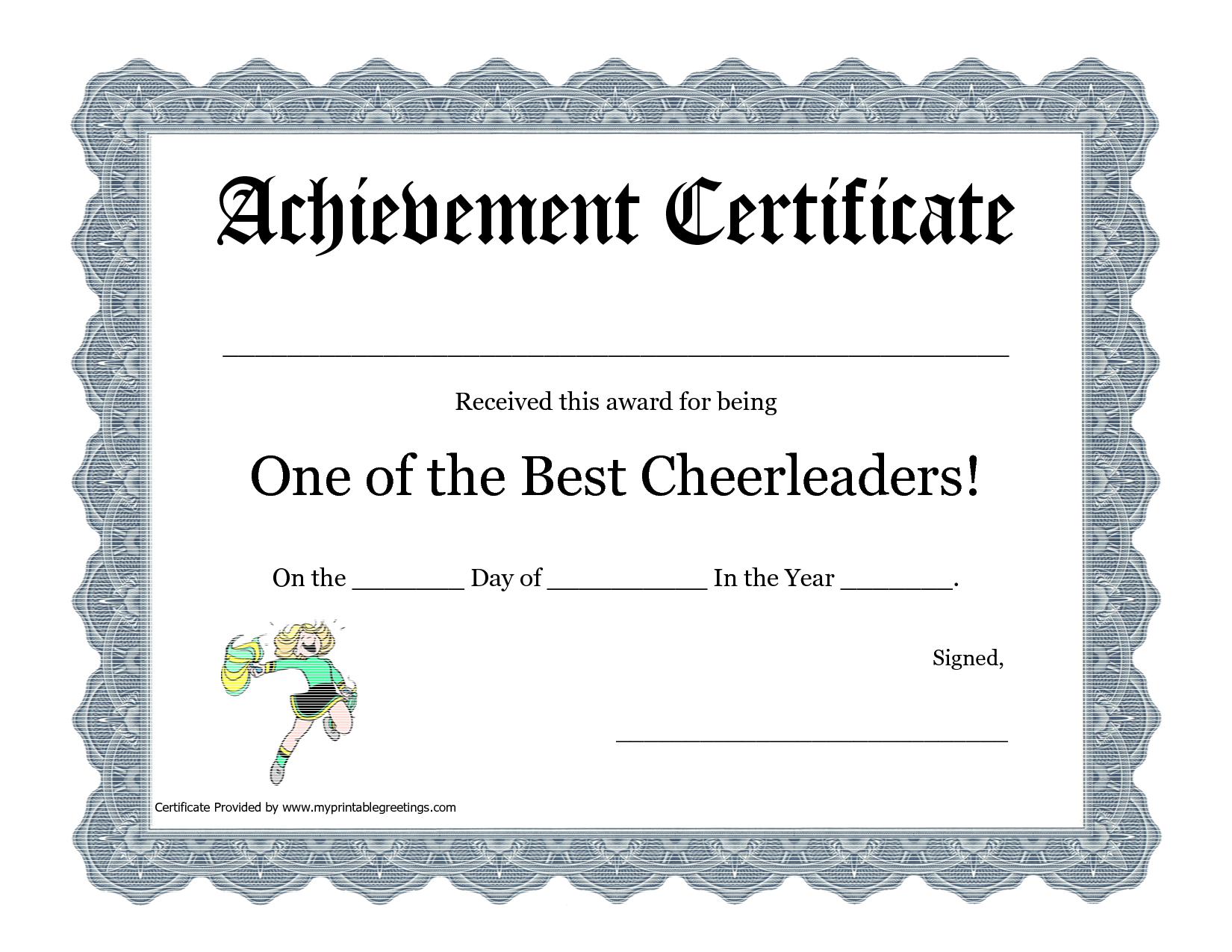 Free Cheerleading Printables   Best Cheerleader Printable Awards - Free Printable Wrestling Certificates