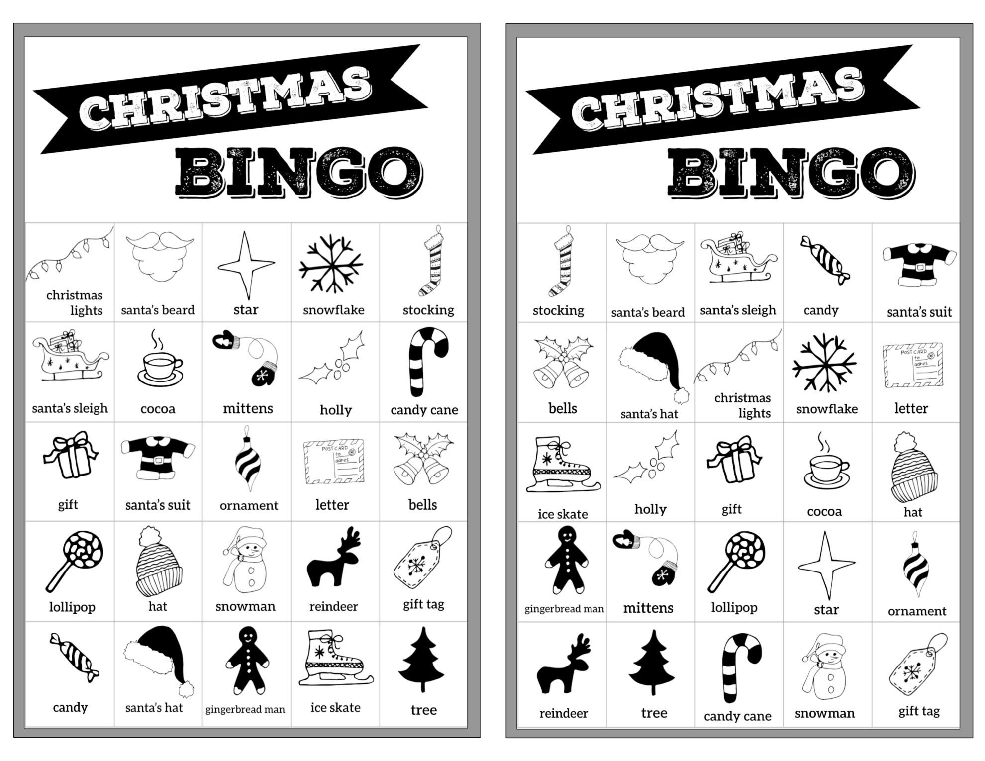 Free Christmas Bingo Printable Cards - Paper Trail Design - Free Printable Bingo Cards For Large Groups