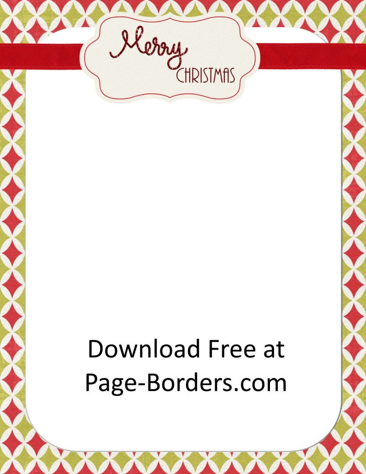 Free Printable Christmas Borders