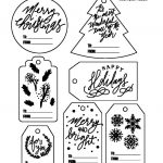Free Christmas Gift Tag Printable   Bw   Stripes & Sprinkles   Christmas Gift Tags Free Printable Black And White