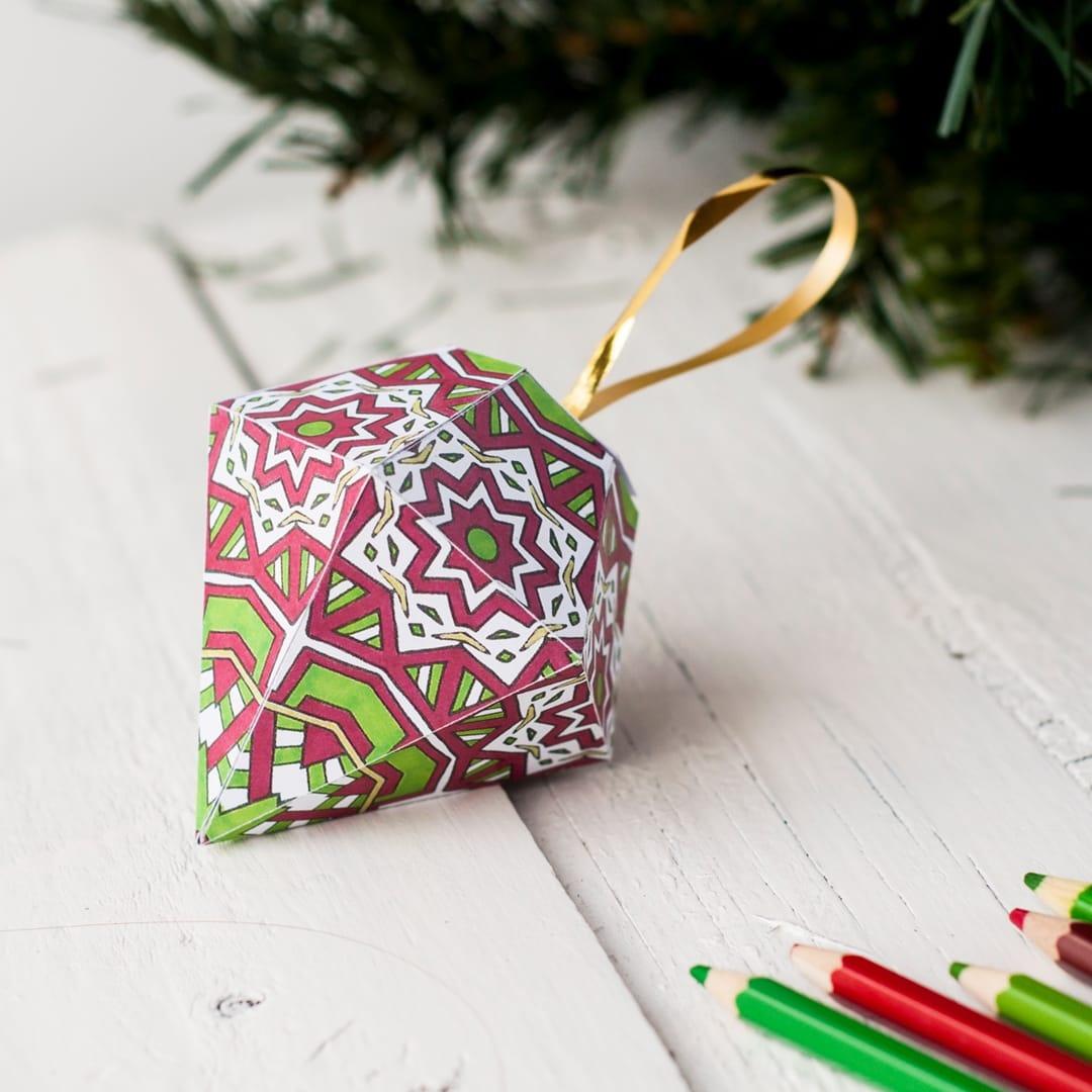 Free Christmas Ornament Template - Sarah Renae Clark - Coloring Book - Free Printable Christmas Decorations