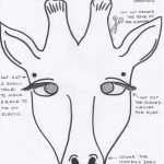 Free Coloring Pages Download : Enchanting African Mask Template   Giraffe Mask Template Printable Free