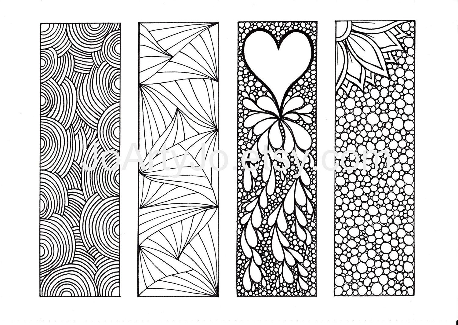 Free Coloring Pages For Adults Bookmarks - Coloring Home - Free Printable Bookmarks To Color