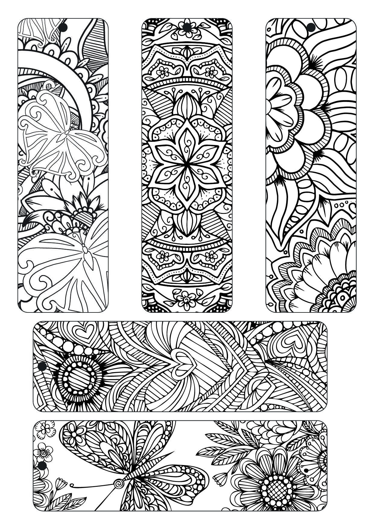 Free Coloring Plate Adult With Spectrum Noir | Paper Crafts - Free Printable Bookmarks To Color