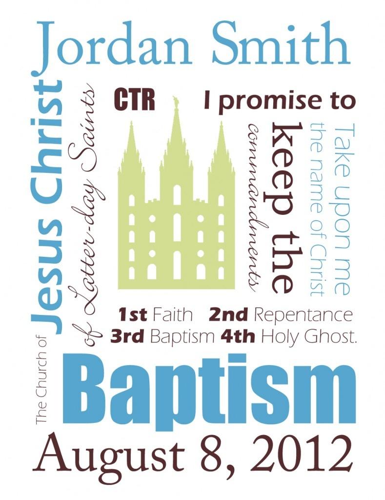 Free Customizable Baptism Printables - Sweetbriar Sisters - Free Printable Subway Art Template