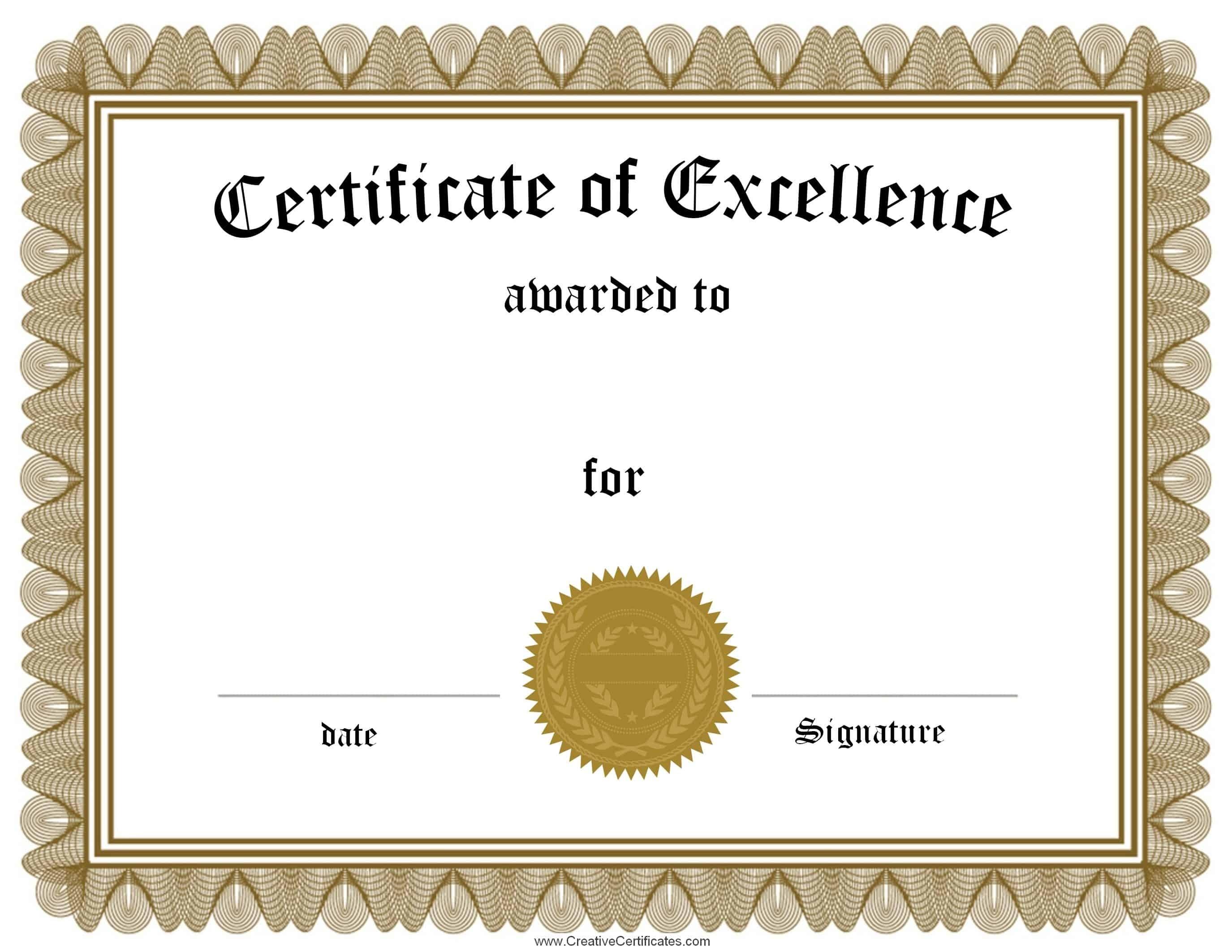 Free Customizable Certificate Of Achievement - Free Printable Certificates Of Accomplishment