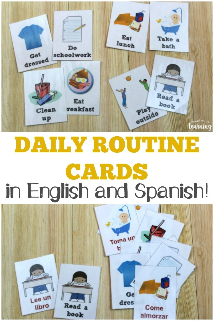 Free Daily Routine Cards For Kids - Look! We're Learning! - Free Printable Daily Routine Picture Cards